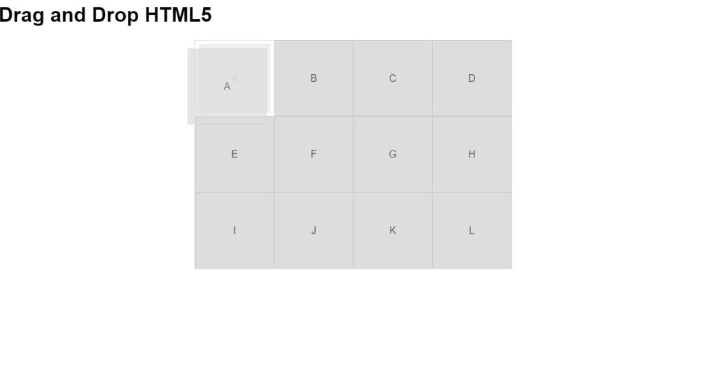 HTML5 drag