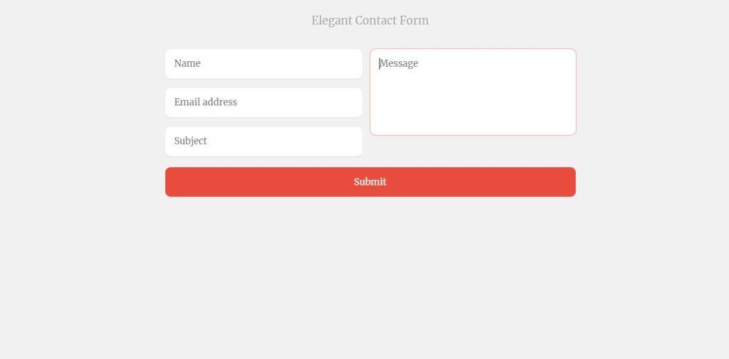 elegant contact forms