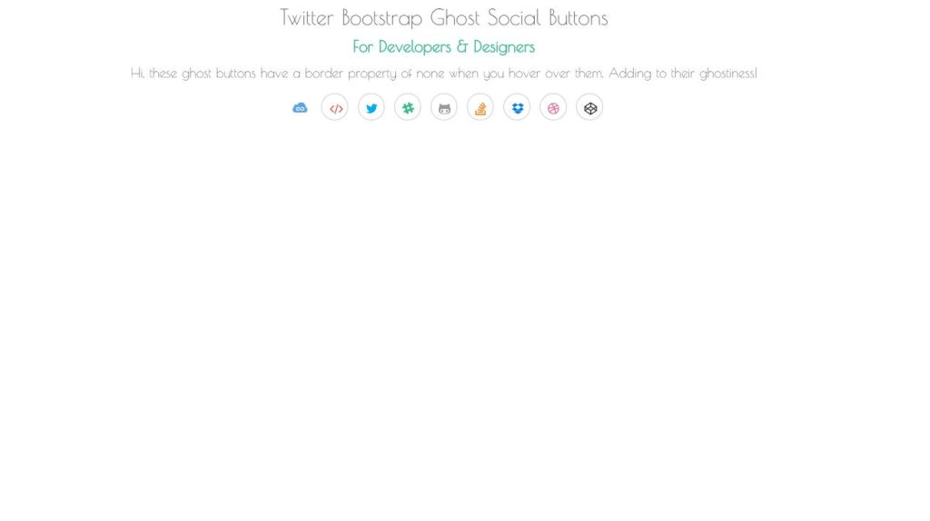 Twitter Bootstrap Social Media Icons