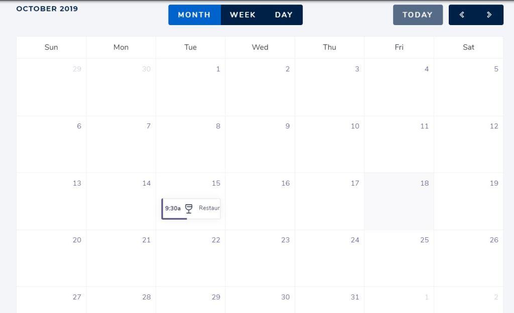 Full Bootstrap calendar