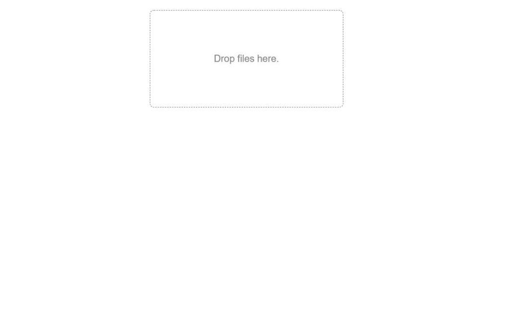 Drag drop file upload