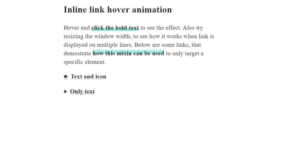 inline link hover