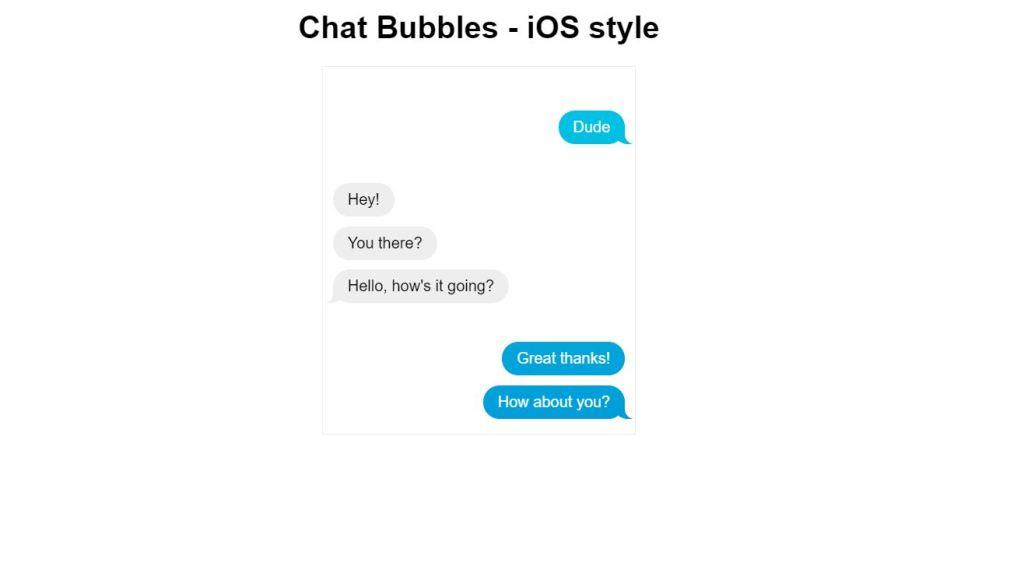 iOS chat message bubbles