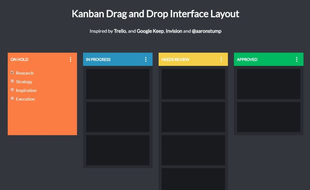 Kanban drag drop