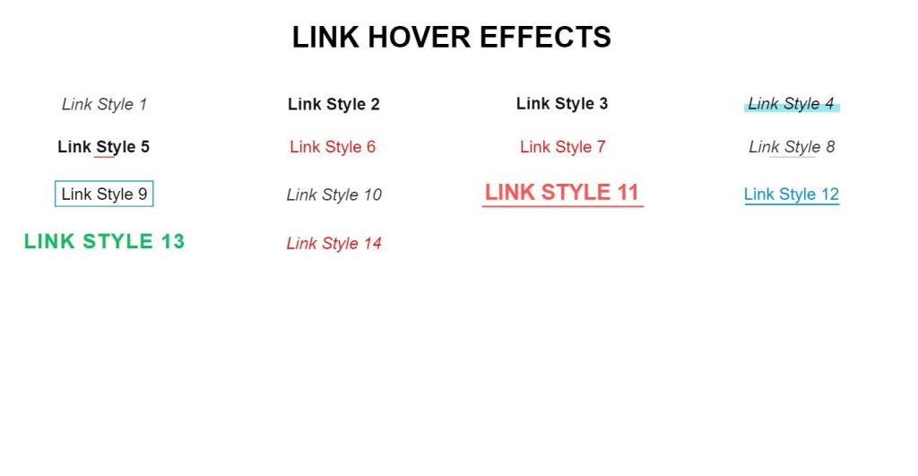 bootstrap link style examples
