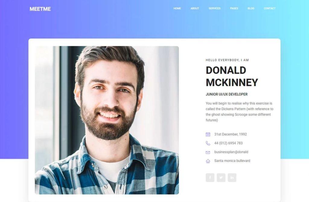 Meetme profile template