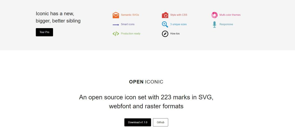 Bootstrap 4 Open Font Icons List
