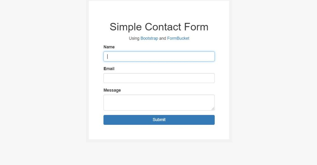 simple Bootstrap contact form