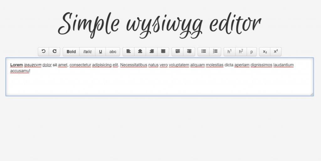 simple wysiwyg editor