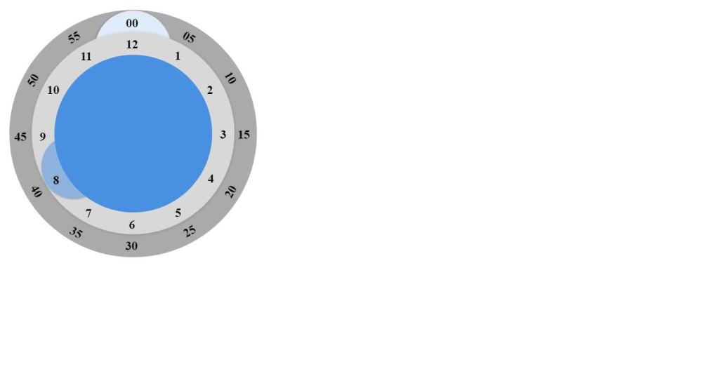 SVG Time Picker Clock