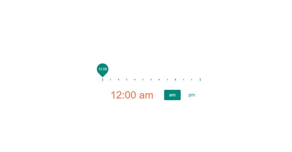 Time picker examples