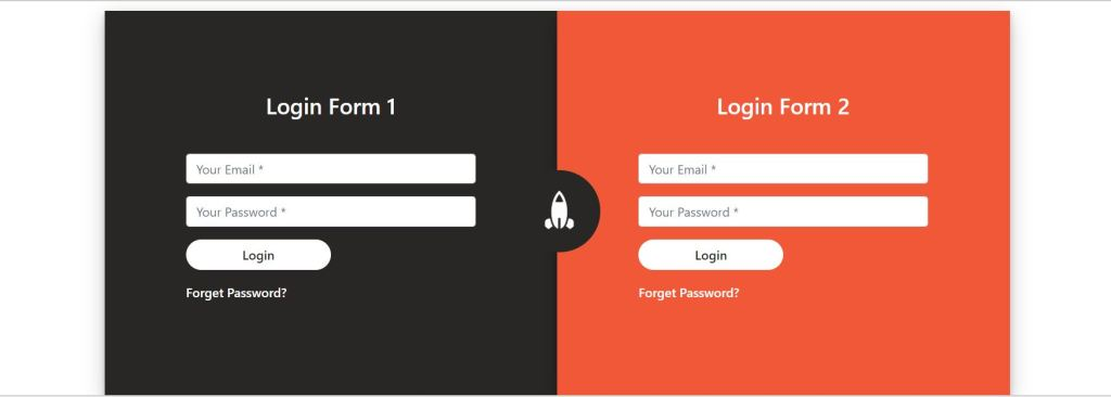 Bootstrap Two login form