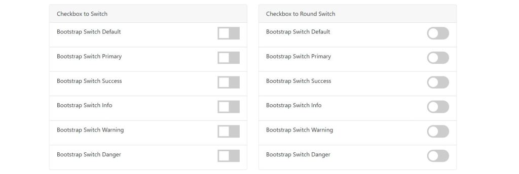 bootstrap v4 simple toggle switch