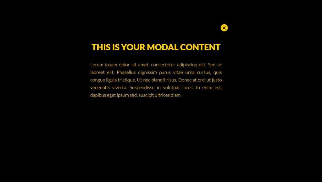 Pure CSS Modal Popup (No JS)