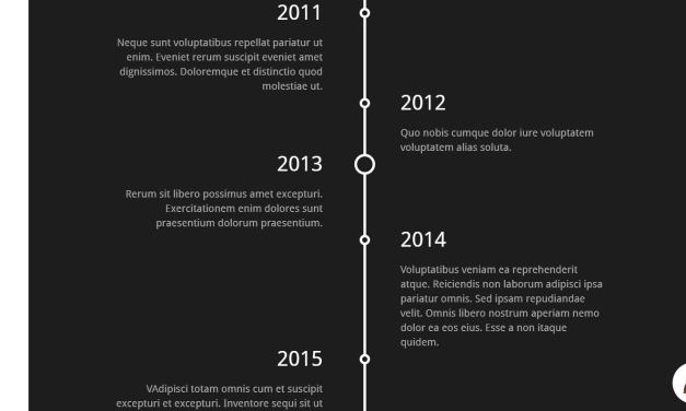 12+ Vertical Timeline Bootstrap Examples