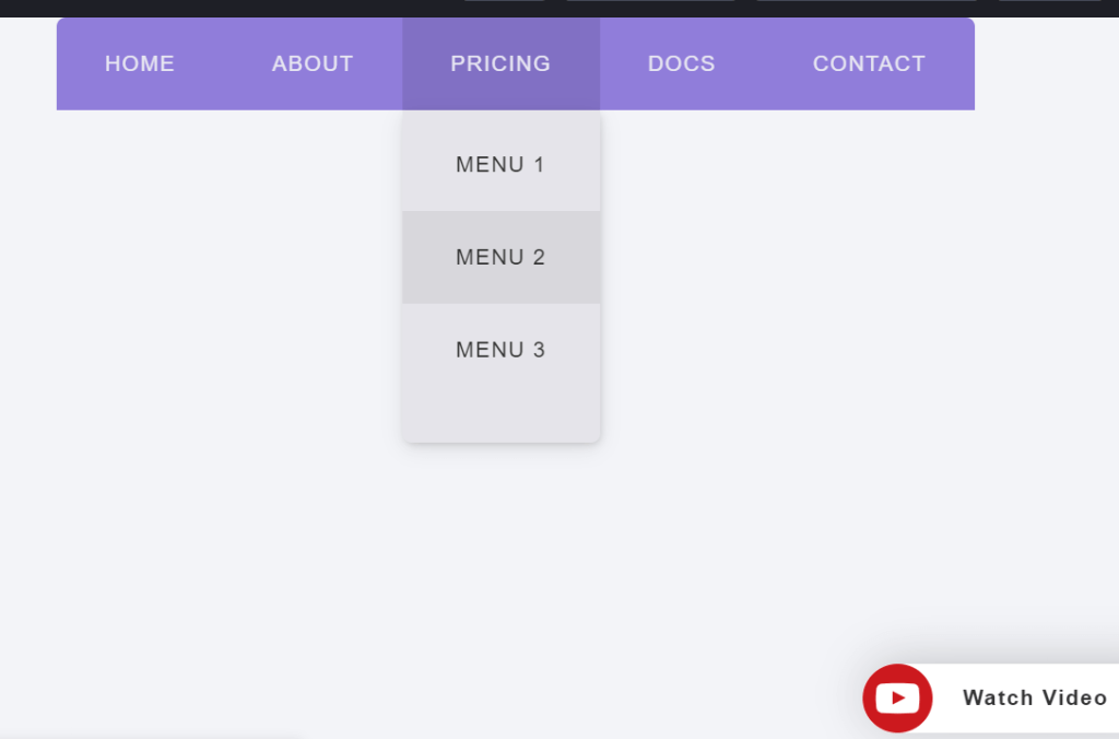 CSS Staggered Animation Dropdown Menu