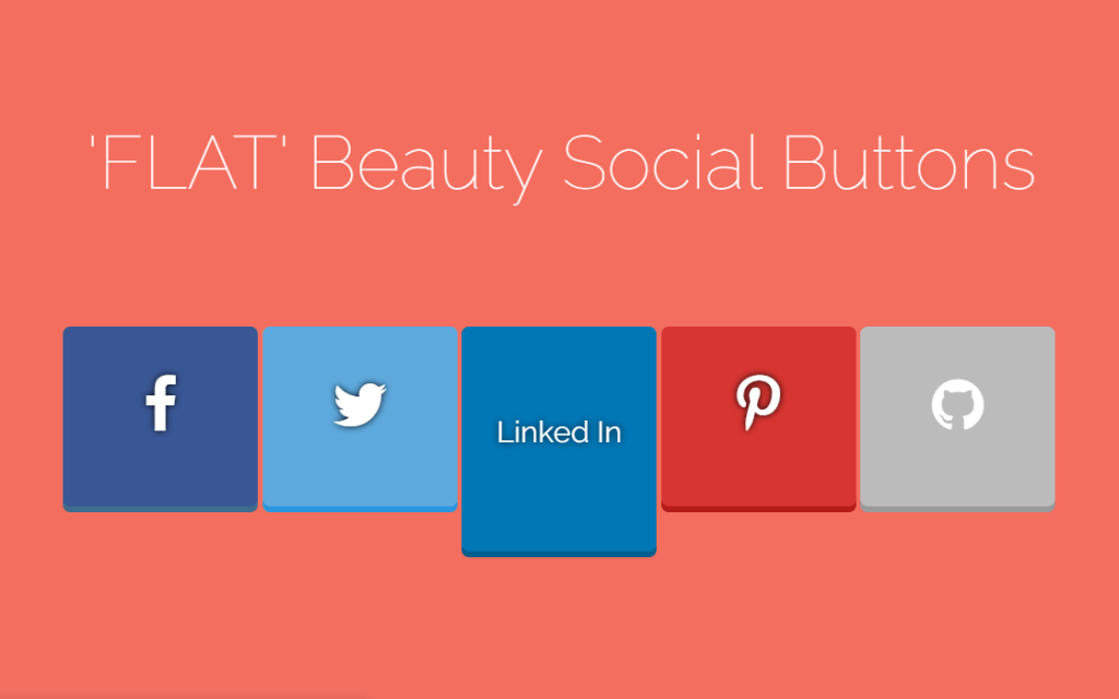 Flat Beauty Bootstrap Social Media Icons