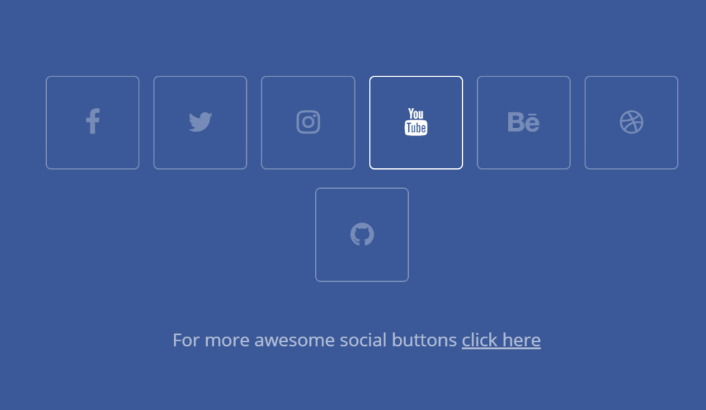 Simple HTML/CSS Social Media Buttons
