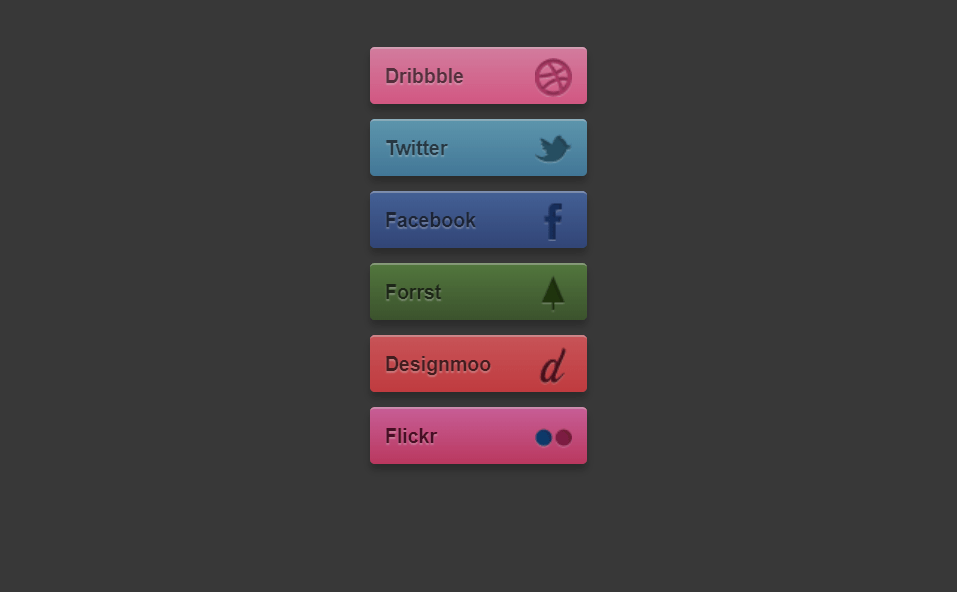 Simplistic Bootstrap Social Media Icons