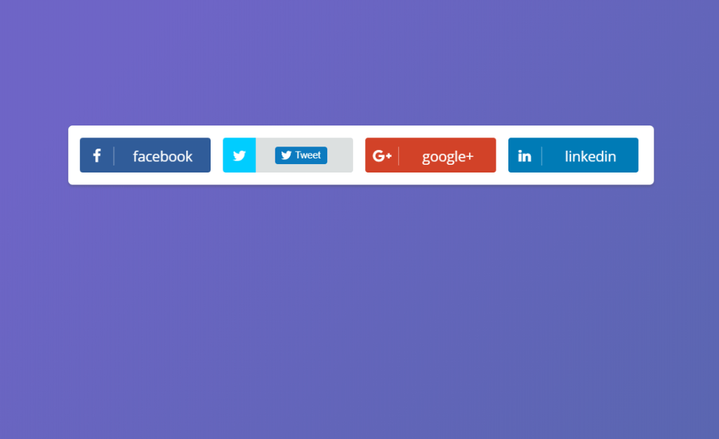 Sliding Social Buttons For Bootstrap