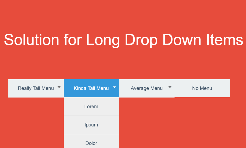 Solution for Long Drop Down Items