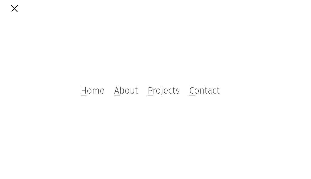 Another JavaScript Full Screen Menu examples