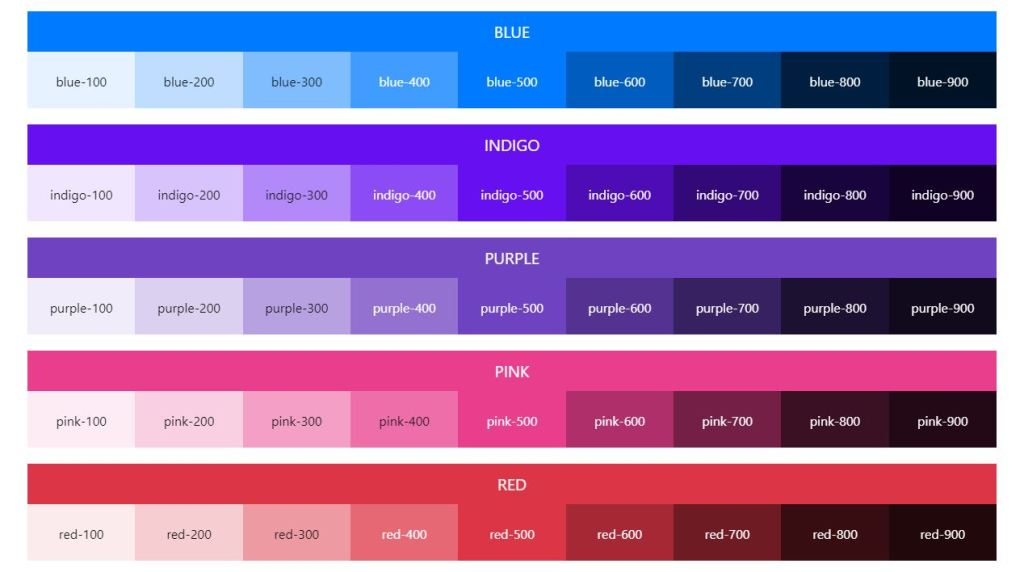 Bootstrap color palette