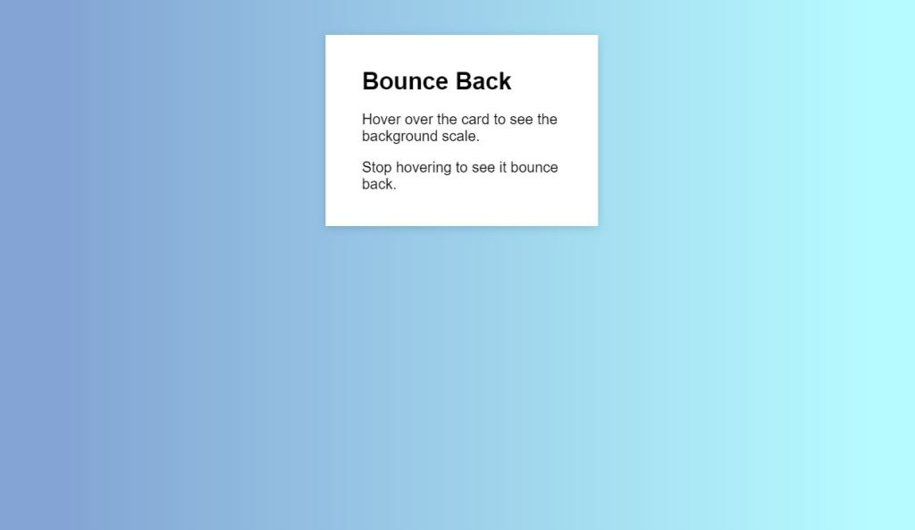 Bounce Back Background