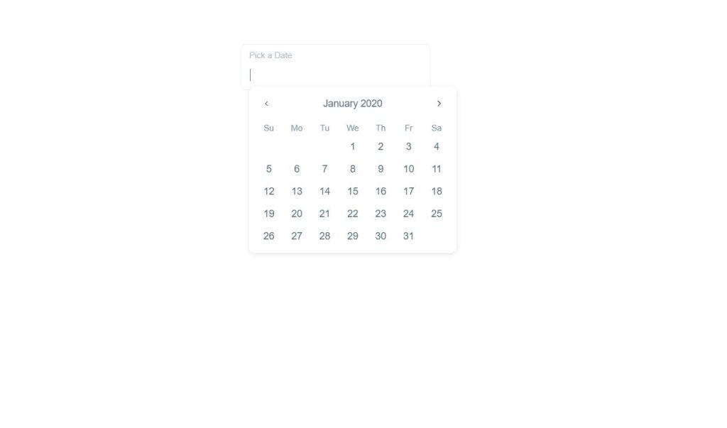 HTML CSS custom datepicker