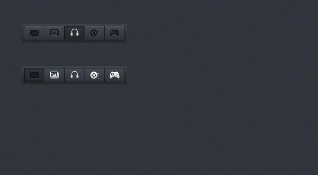 Dark horizontal JS menu