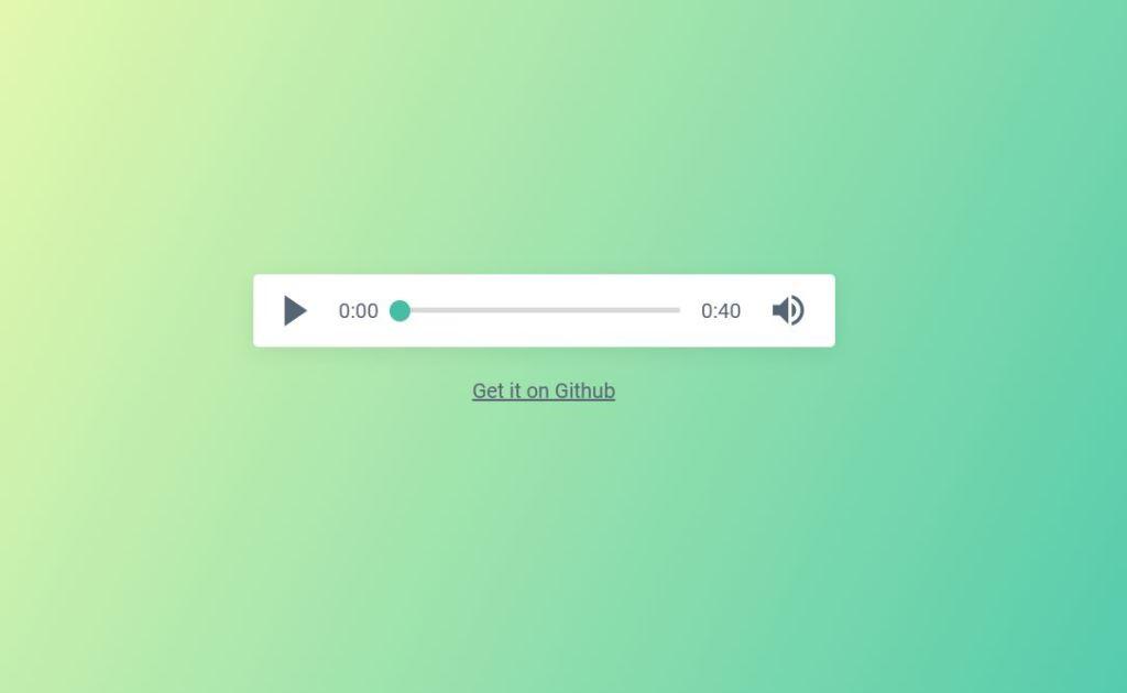 Green Audio Player On Website