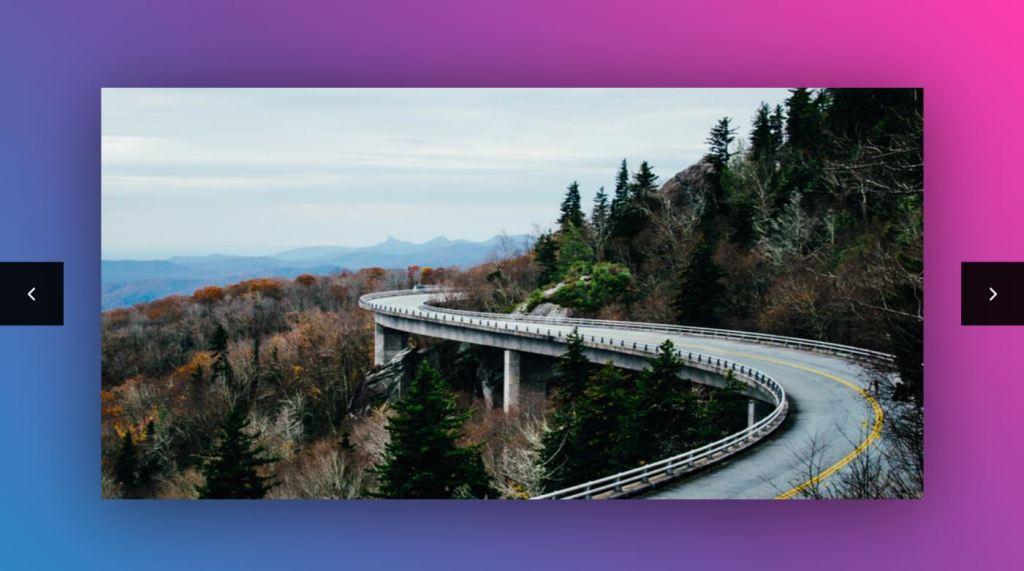 Simple Motion blur JavaScript JS image slider
