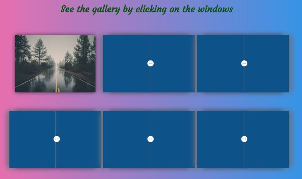 JS Photo/Image Gallery Clicking on the Windows