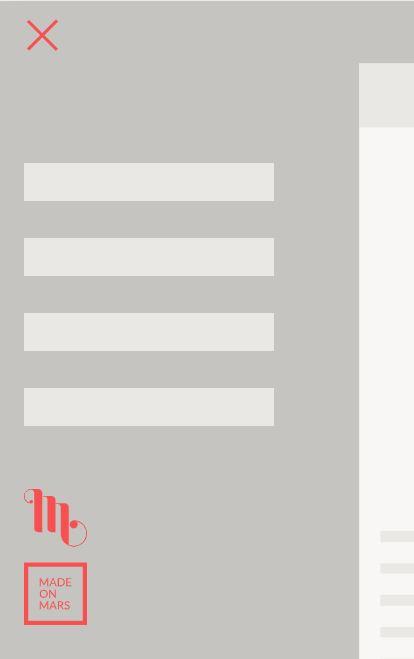 Pure CSS and JavaScript mobile Nav menu example