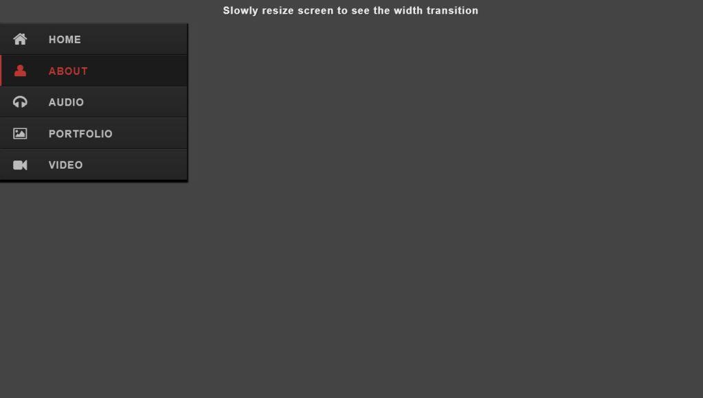 Responsive JavaScript Sidebar Menu