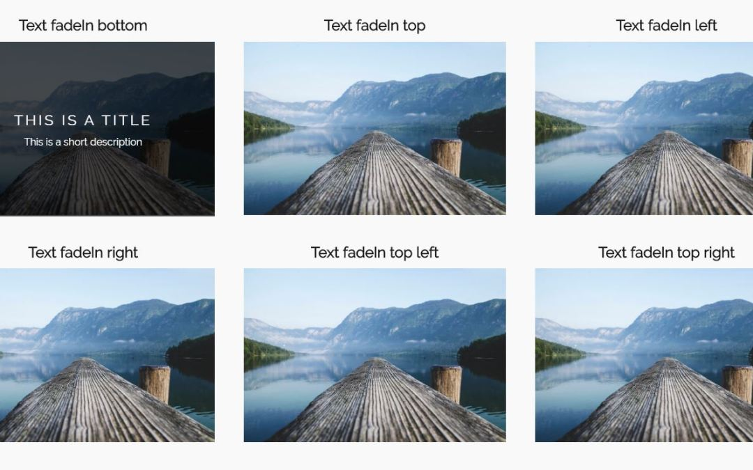 Bootstrap Image Overlay Examples