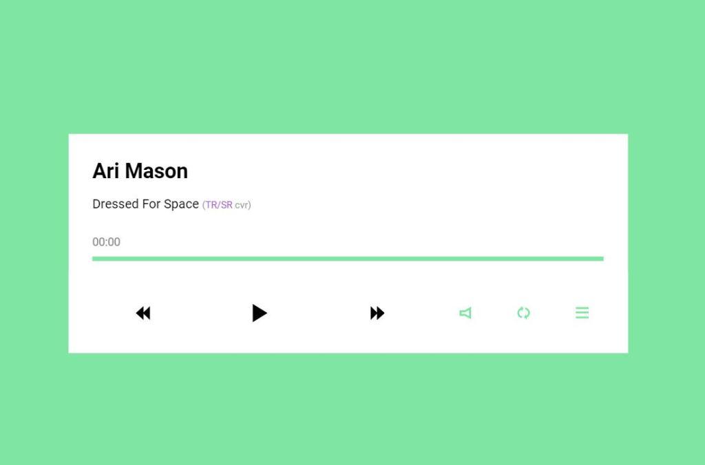 Simple Responsive JavaScript Music Player