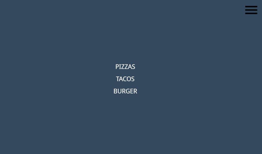 JavaScript Full Screen navigation Menu examples