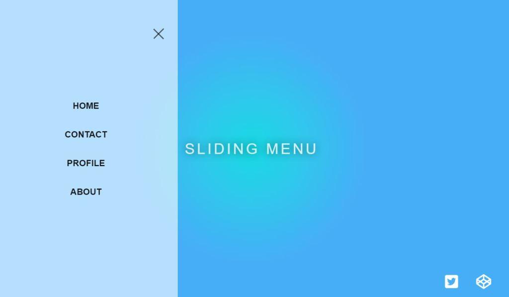 Awesome JavaScript/JS Slide menu