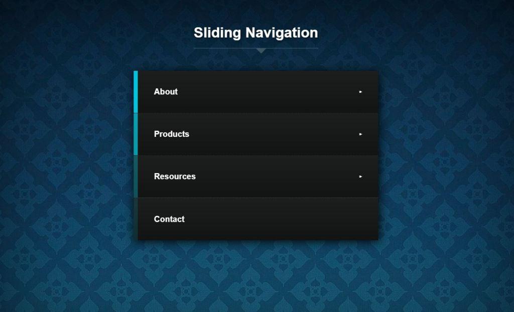 JavaScript/JS Slide navigation menu