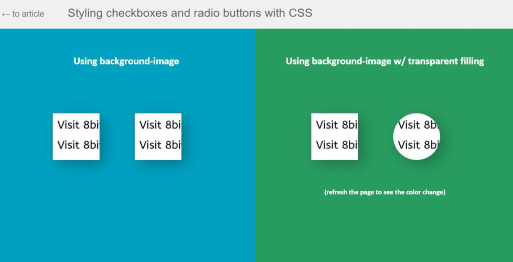 Styling Checked Radio Buttons Value