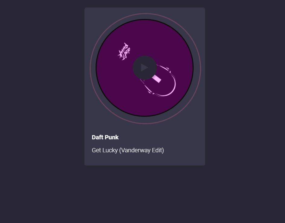 Visual web music player