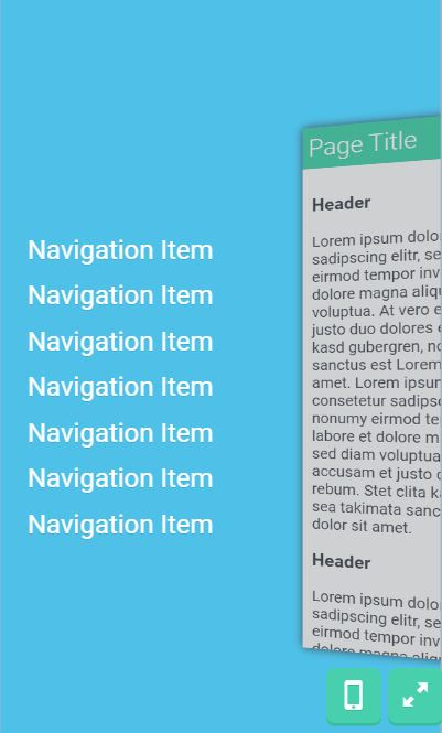 ios like mobile navigation