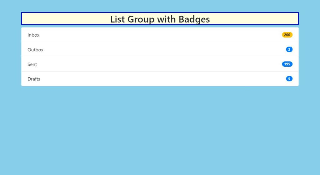 Listgroup Badges Bootstrap