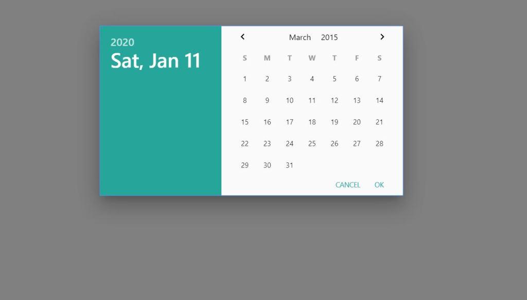 Materialize Date picker