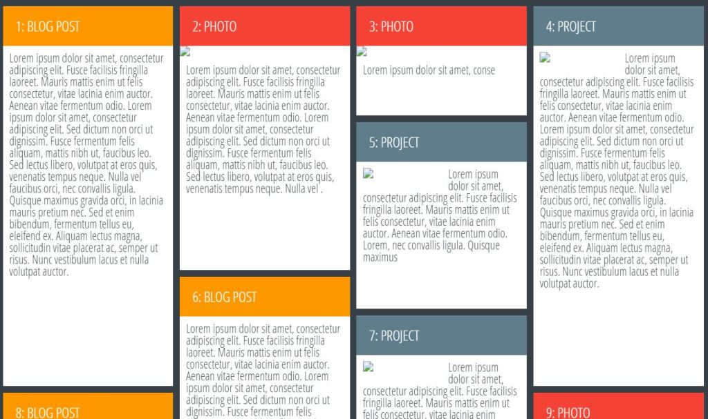 CSS And JavaScript Grid