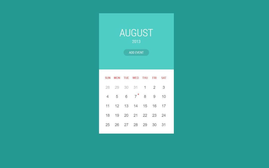 30+ JavaScript Calendar Design Code Examples