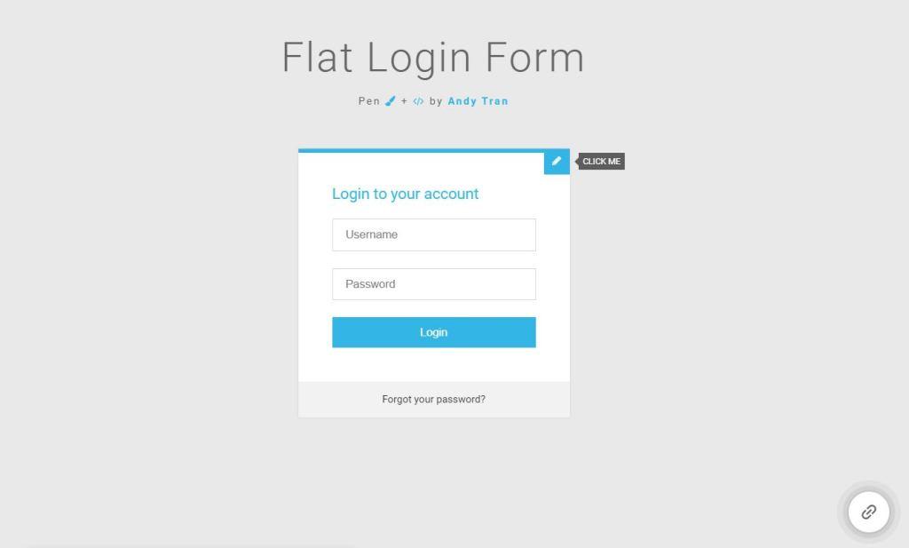 Amazing JavaScript login form