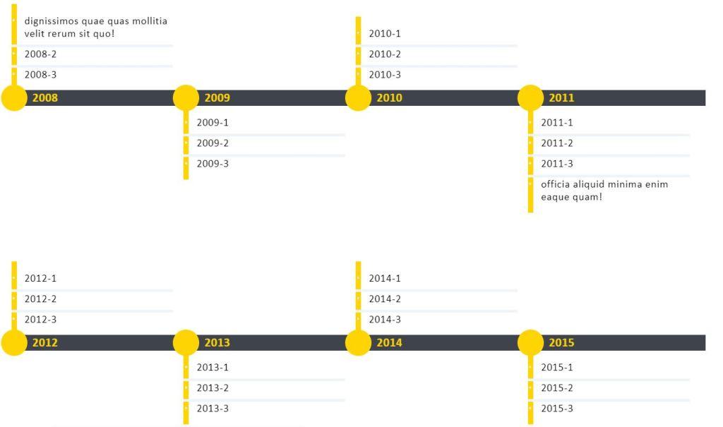 JavaScript/JS HTML CSS Horizontal Timeline