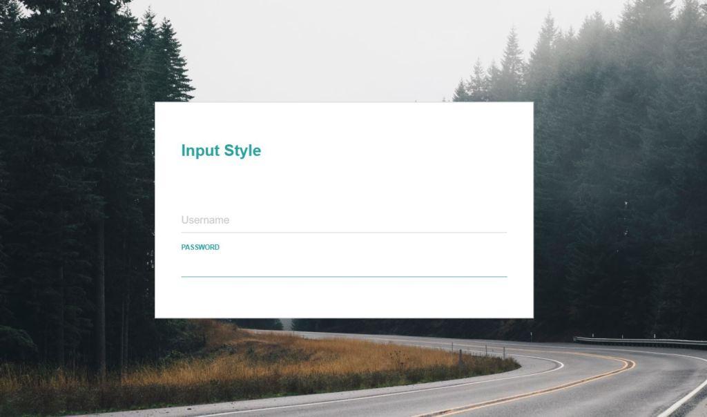 Modern Style InputText
